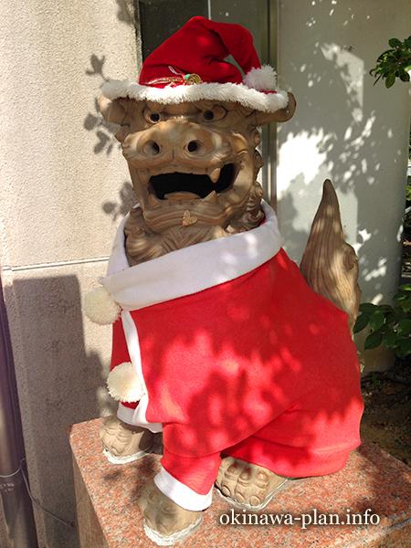 冬の沖縄 シーサー冬の装い