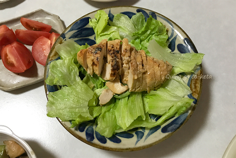 サラダチキンブエノチキン味はレタスとの相性抜群