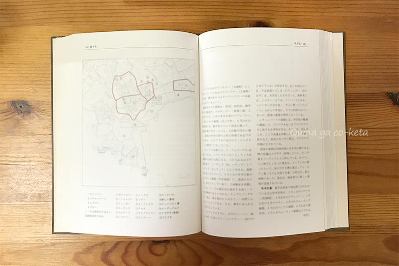 『沖縄国頭の村落』地図ページのイメージ