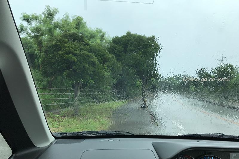 沖縄の梅雨真っ只中のすっげー雨