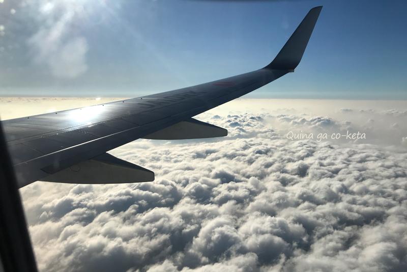 沖縄本島上空でもまだ分厚い雲が(10月中旬)