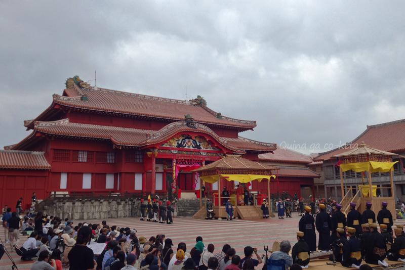 首里城正殿(2015年10月31日首里城祭にて)