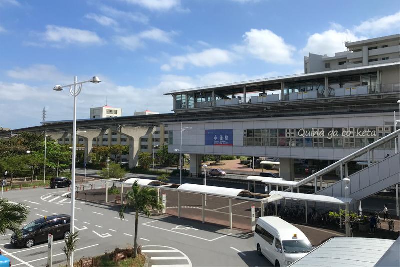 沖縄に住みたいー!と思って撮った一枚(小禄駅前にて)
