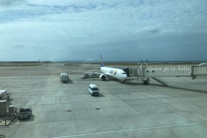 那覇空港の搭乗ゲートから