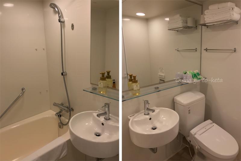 ムーンビーチパレスホテル洋室のバスルーム