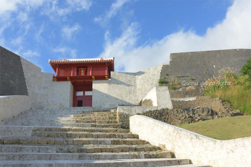 火災後の首里城で見学できる新エリア「美福門」