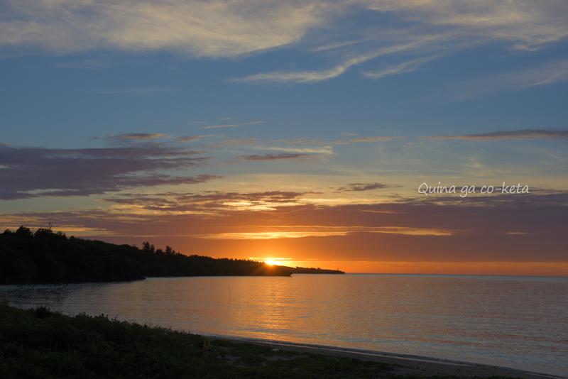 沖縄で見た夕日(2020年7月)