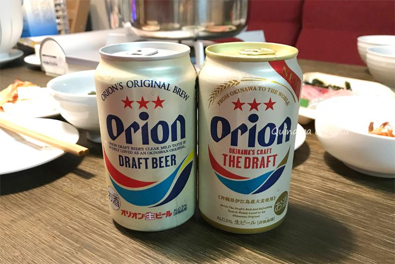 新旧のオリオンビールを飲み比べ