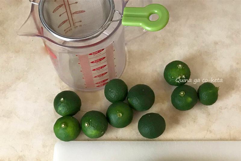 シークヮーサー果汁は10個で50ml弱(目安)