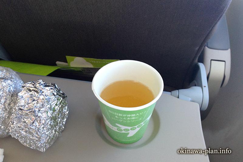 無料の機内サービスアゴユズスープ