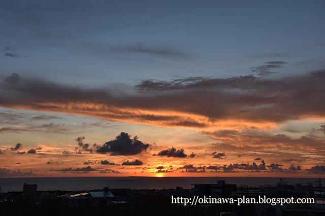 プチ移住体験中に見た沖縄の夕日