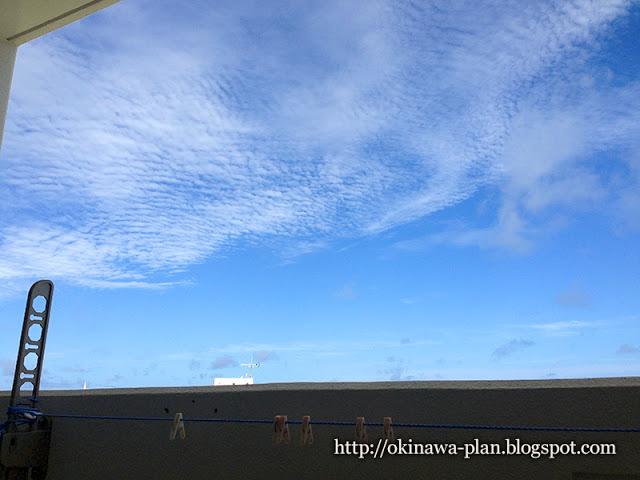 沖縄でプチ移住体験をしたウィークリーマンションのベランダ