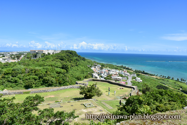 沖縄本島の史跡めぐり(勝連グスク一の郭から/うるま市勝連)