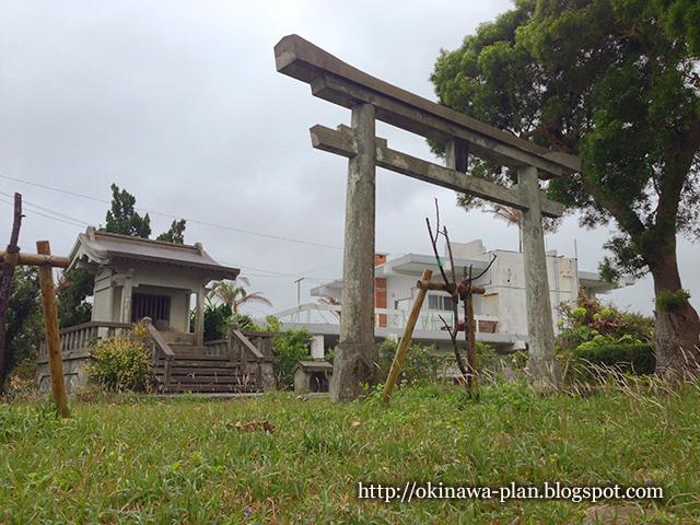 沖縄市の史跡や御嶽の地図