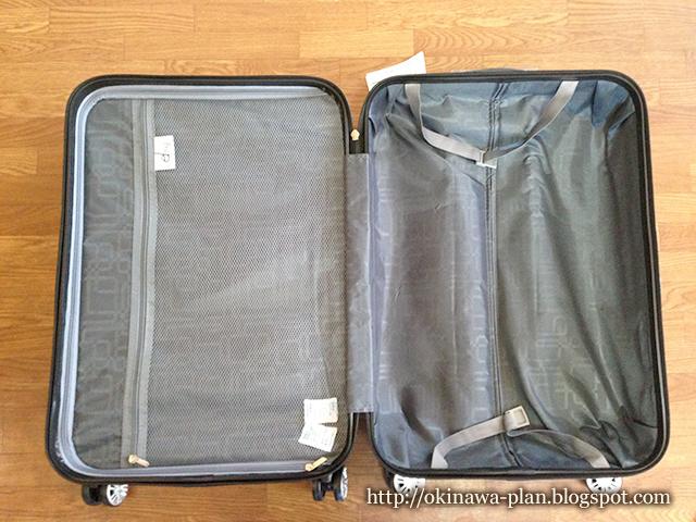 24インチ65LのMサイズのスーツケース-内装