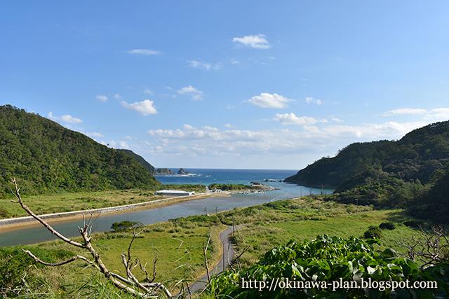 安波集落高台からの絶景