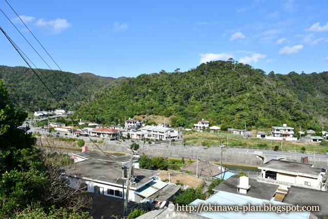 安波の集落から眺める風景