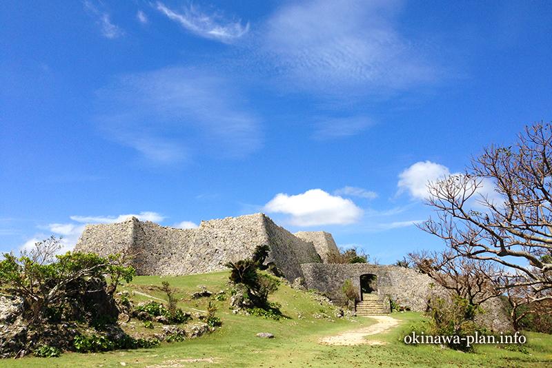 中城村の史跡や御嶽の地図