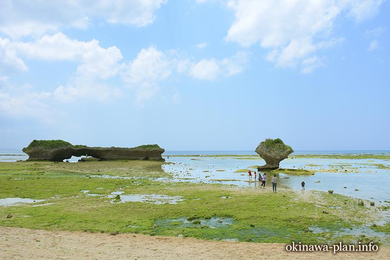 2週間の沖縄滞在中に訪れた渡具知ビーチ(読谷村)