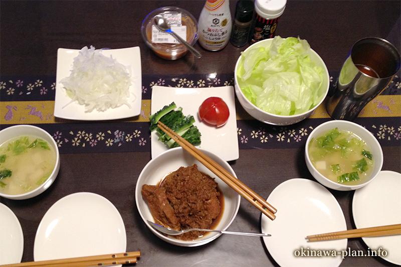 沖縄自炊料理(チマグのバーベキュー焼き)