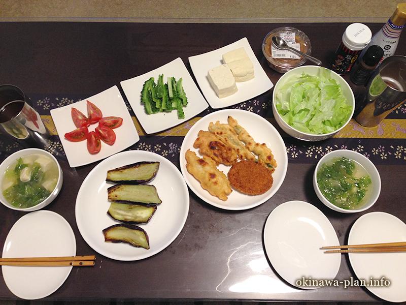 沖縄自炊料理(なす田楽)