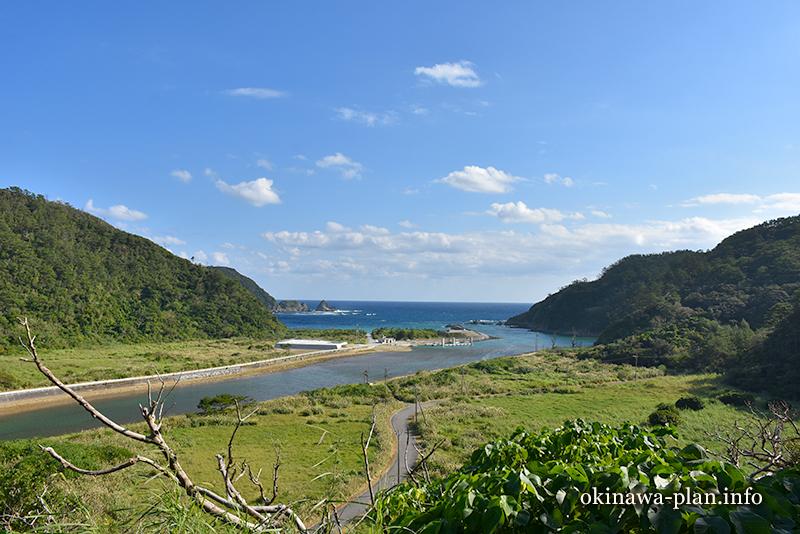 沖縄本島の見晴らしがいい場所(安波ヒラバンタ広場/国頭村安波)