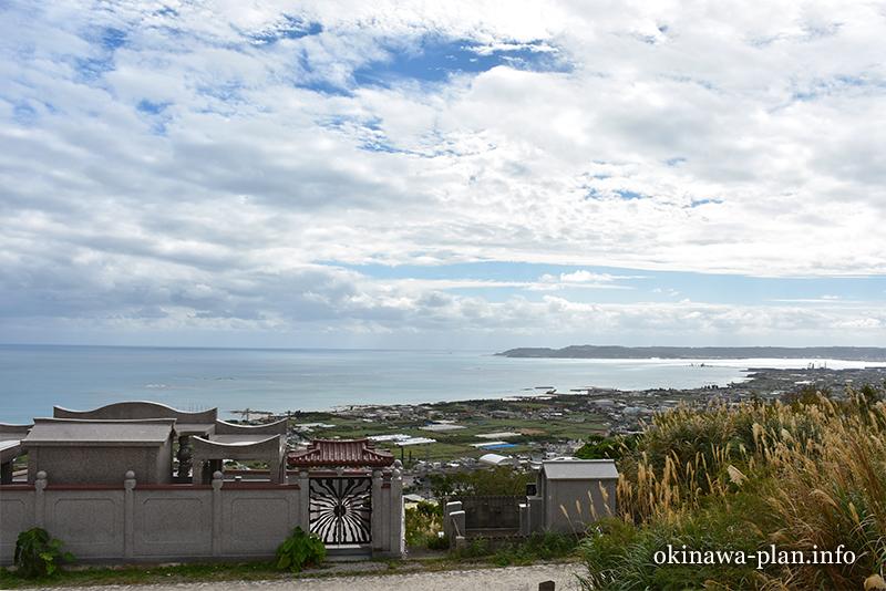 沖縄本島の見晴らしがいい場所(ペリーの旗立岩付近から中城湾方向/中城村)
