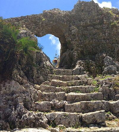 玉城城跡(たまぐすく)一の郭の門