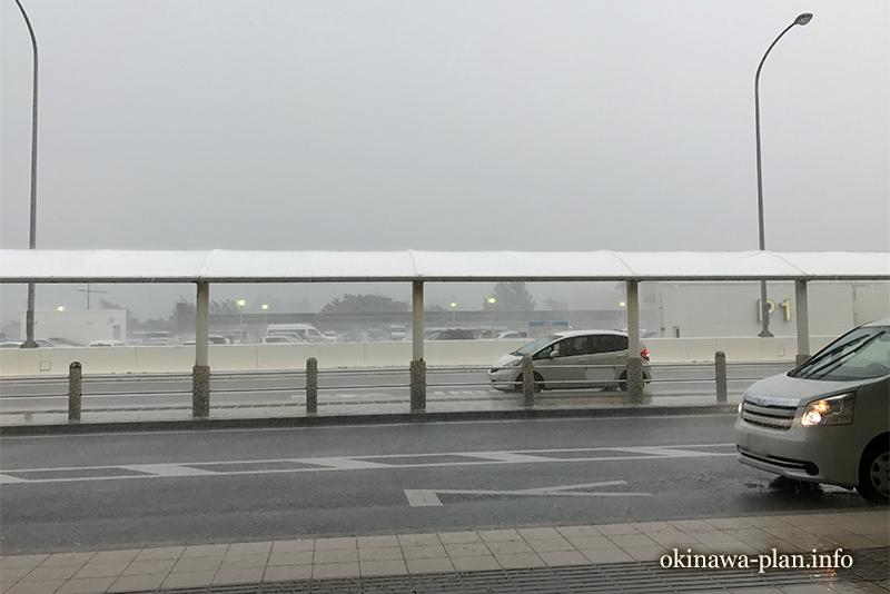 沖縄台風接近時の急な豪雨(2017年9月)