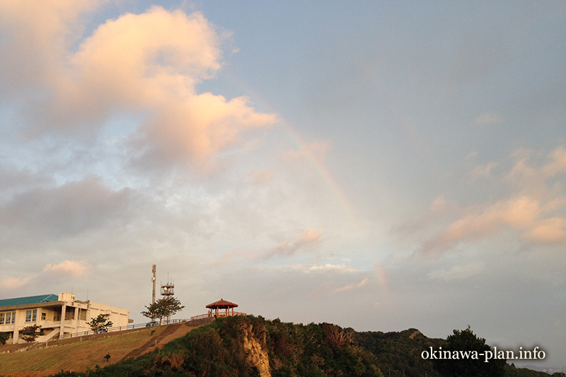 12月の沖縄の天気(2016年12月22日7:21沖縄県南城市・知念岬)
