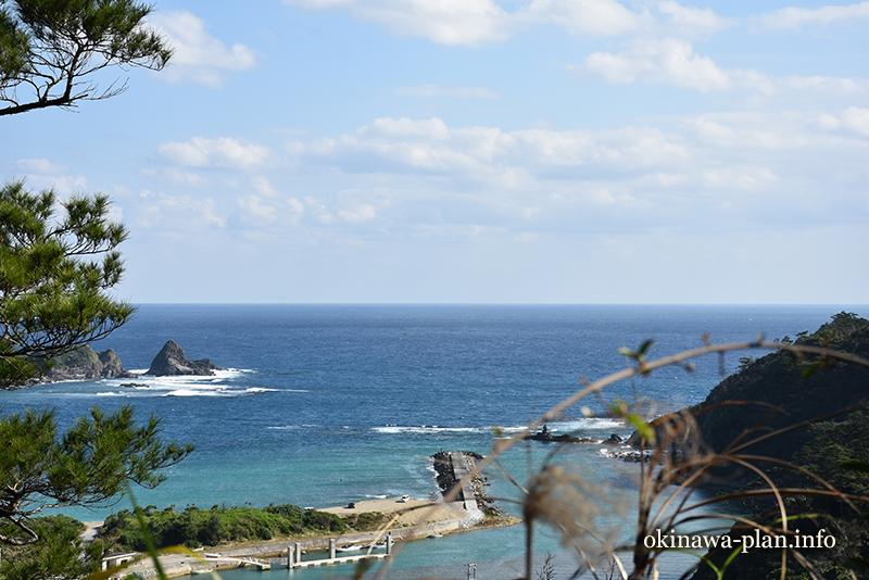 12月の沖縄の天気(2016年12月25日10:45国頭村安波集落にて)