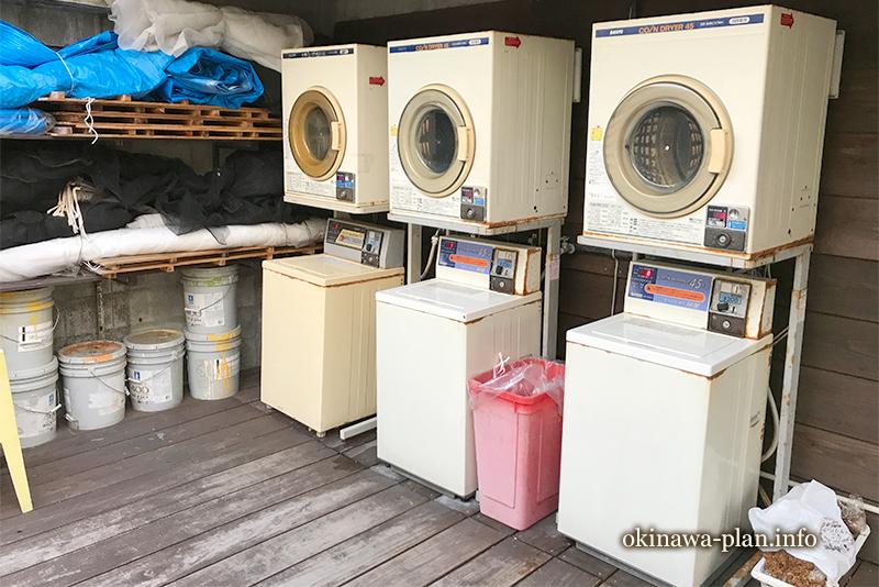 サンパレス球陽館の洗濯機と乾燥機(6階)