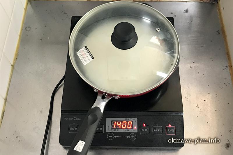 強火で加熱(炊飯器なしでご飯を炊く方法)