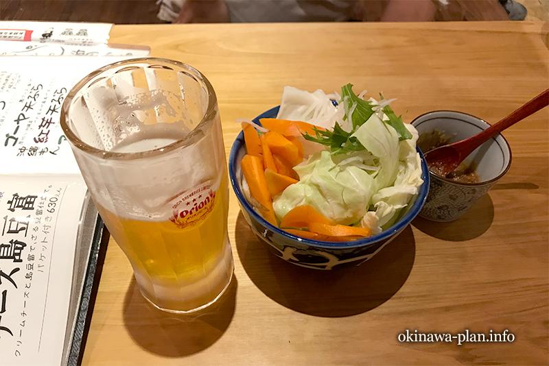 沖縄フェスの帰りに沖縄酒場 海風でオリオンビール(奈良市三条通沿い)