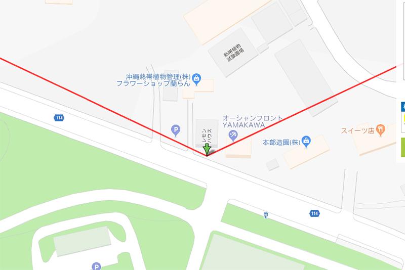 【7月の本部町】レモンハウスからの日の出日の入りの方角(スクリーンショット)