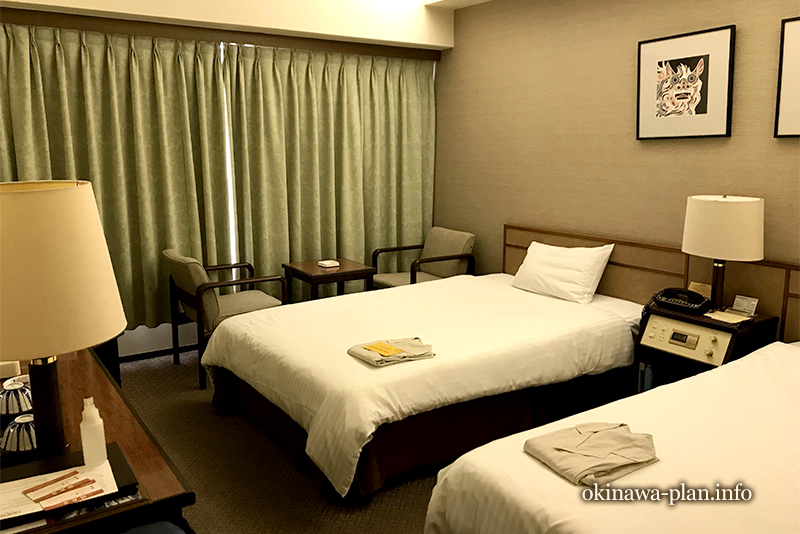 琉球サンロイヤルホテルのレギュラーツインルーム