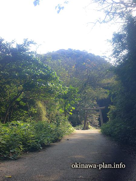 喜如嘉の七滝へ続く道
