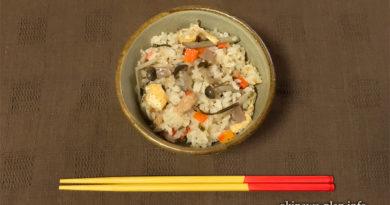 沖縄そばだし(ストレート)でじゅーしぃっぽい炊き込みご飯