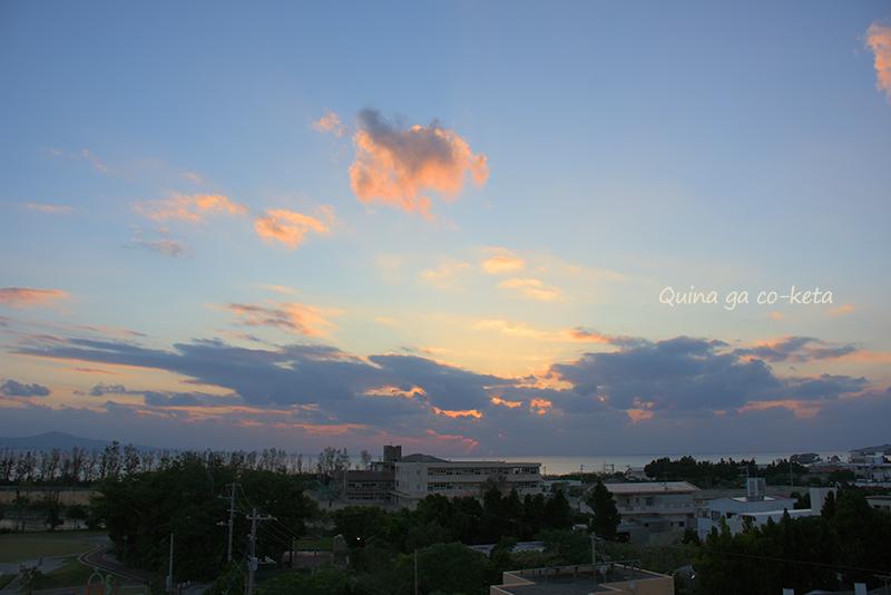 ホテルから見えた夕空(名護市屋部)