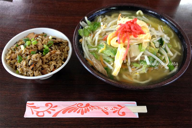 野菜そば(我部祖河食堂本店)