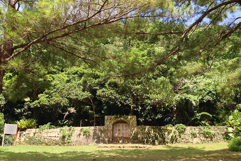 宜野湾市の史跡や御嶽の地図